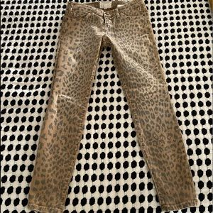 Current Elliot Stiletto Leopard Skinny Jeans 25